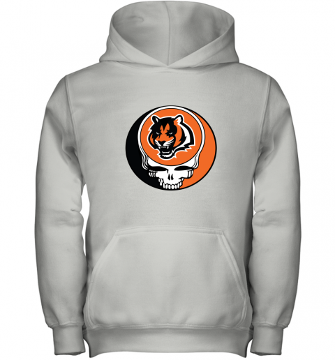 NFL Team Cincinnati Bengals x Grateful Dead Logo Band Youth Hoodie