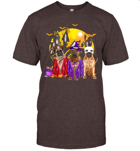 Bullmastiff Dog Family Of Three Family Halloween Gift T-Shirt