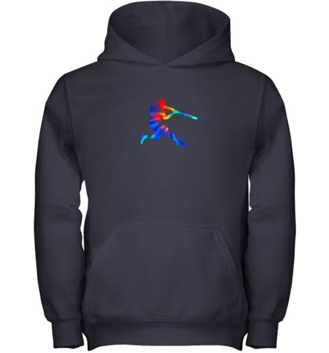 vjvp tie dye baseball batter shirt retro player coach boys gifts youth hoodie 43 front navy