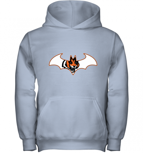 w14b we are the cincinnati bengals batman nfl mashup youth hoodie 43 front light pink