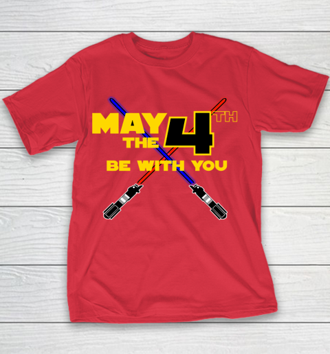 Star Wars Shirt May the Fourth Be With You Lightsaber Youth T-Shirt 7