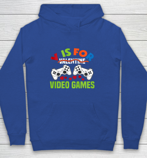 Funny Video Games Lover Valentine Day Youth Hoodie 6