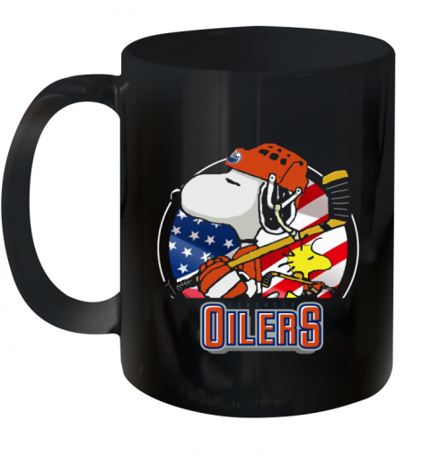Edmonton Oilers Snoopy And Woodstock NHL Ceramic Mug 11oz