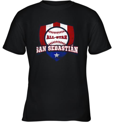San Sebastian Puerto Rico Puerto Rican PR Baseball Youth T-Shirt