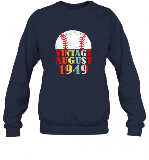 kkum born august 1949 baseball shirt 70th birthday gifts sweatshirt 35 front navy