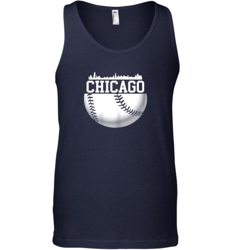 utc4 vintage downtown chicago shirt baseball retro illinois state unisex tank 17 front navy