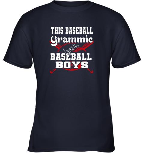 xvqk this baseball grammie loves her baseball boys youth t shirt 26 front navy