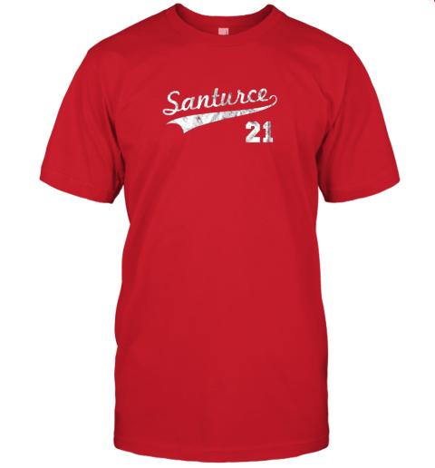 shyt vintage distressed santurce 21 puerto rico baseball jersey t shirt 60 front red