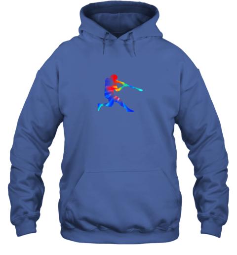 5v8l tie dye baseball batter shirt retro player coach boys gifts hoodie 23 front royal