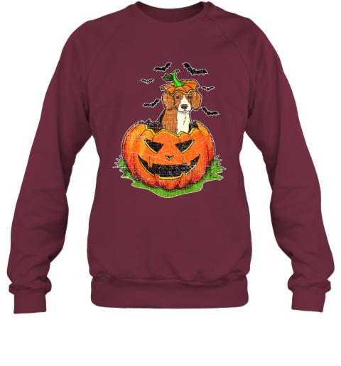 Cute Halloween Beagle Dog Lovers Pumpkin Jack O Lantern Kids Premium Sweatshirt