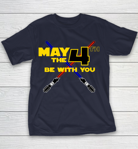 Star Wars Shirt May the Fourth Be With You Lightsaber Youth T-Shirt 2