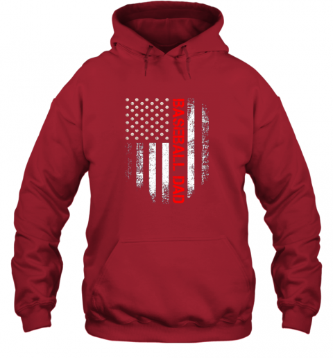 lj8q vintage usa american flag proud baseball dad player hoodie 23 front red