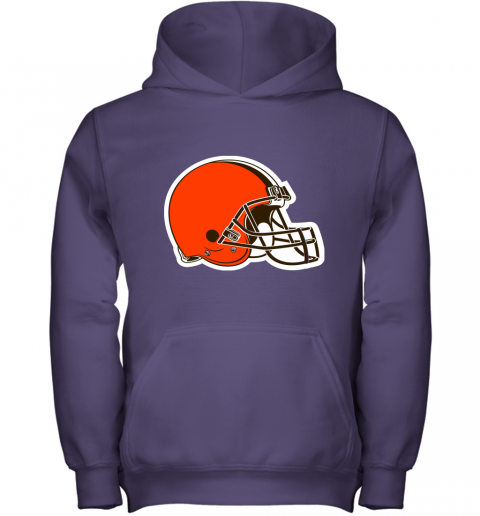 3qw3 cleveland browns nfl pro line by fanatics branded brown victory youth hoodie 43 front purple