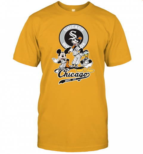 9gtw mlb chicago white sox mickey mouse donald duck goofy baseball jersey t shirt 60 front gold