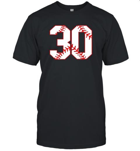 Thirtieth Birthday Party 30th Baseball Shirt Born 1989 Unisex Jersey Tee