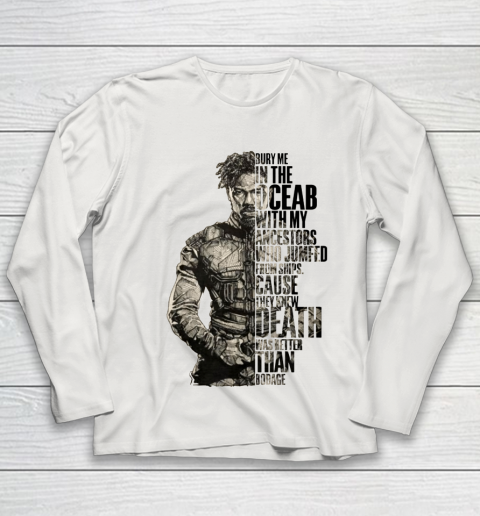 BURY ME IN THE OCEAN WITH MY ANCESTORS SHIRT Youth Long Sleeve 8