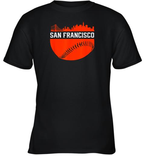 San Francisco Baseball Vintage SF The City Skyline Gift Youth T-Shirt