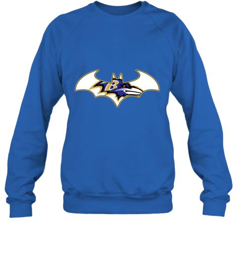 bul4 we are the baltimore ravens batman nfl mashup sweatshirt 35 front royal