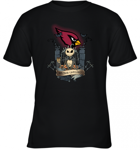 Arizona Cardinals Jack Skellington This Is Halloween NFL Youth T-Shirt