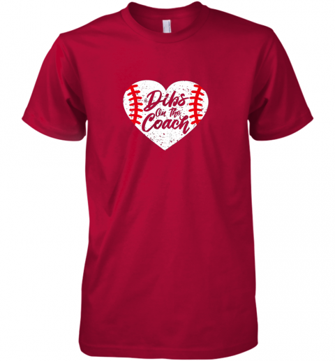 huko dibs on the coach funny baseball premium guys tee 5 front red