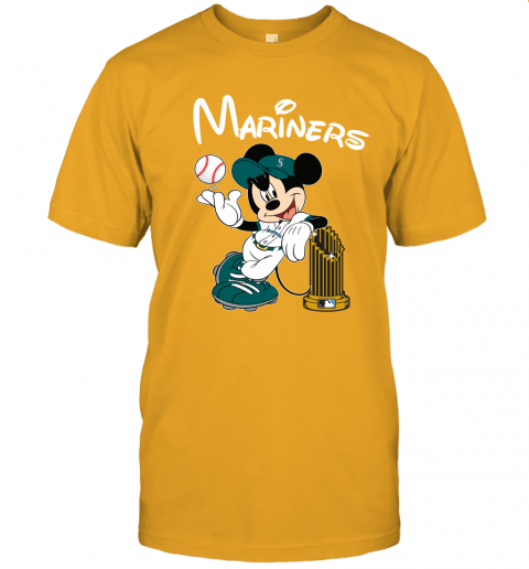 tufe seattle mariners mickey taking the trophy mlb 2019 jersey t shirt 60 front gold
