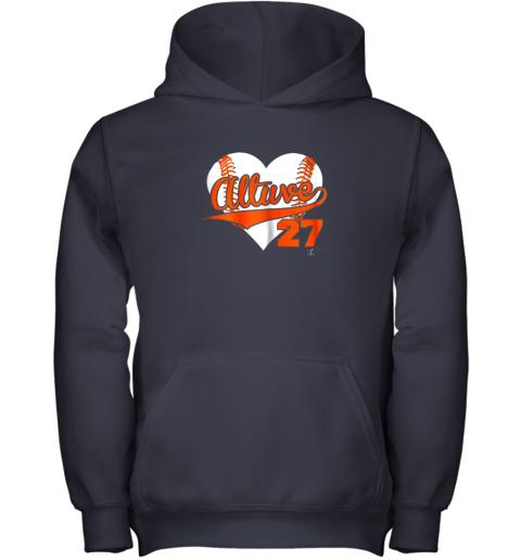 b57l jose altuve baseball heart shirtapparel youth hoodie 43 front navy