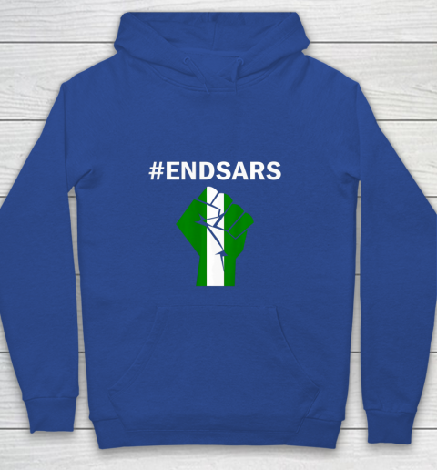 EndSARS End SARS Nigeria Flag Colors Strong Fist Protest Youth Hoodie 6