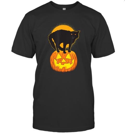 Pumpkin and Black Cat Halloween T-Shirt