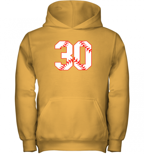 mn4l thirtieth birthday party 30th baseball shirt born 1989 youth hoodie 43 front gold