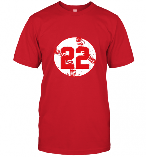 v773 womens vintage baseball number 22 shirt cool softball mom gift jersey t shirt 60 front red