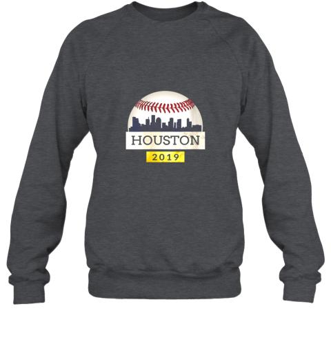 ve1t houston baseball shirt 2019 astro skyline on giant ball sweatshirt 35 front dark heather