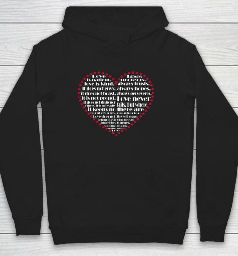 Love is patient love is kind Valentine Hearts Valentines day Hoodie