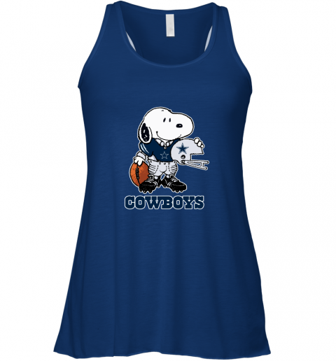 Snoopy A Strong And Proud Dallas Cowboys Player NFL Racerback Tank