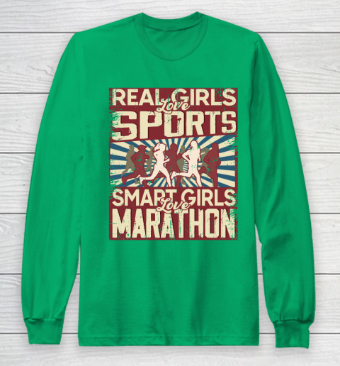 Real girls love sports smart girls love marathon Long Sleeve T-Shirt 4