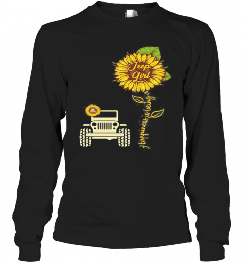 Sunflower Happiness Is Being A Girl Long Sleeve T-Shirt