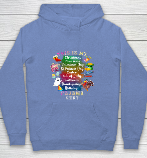 Funny Christmas New Year Birthday Valentine 10 holidays in 1 Shirt Youth Hoodie 8