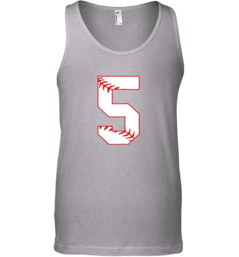 65vn cute fifth birthday party 5th baseball shirt born 2014 unisex tank 17 front sport grey
