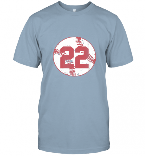 v773 womens vintage baseball number 22 shirt cool softball mom gift jersey t shirt 60 front light blue