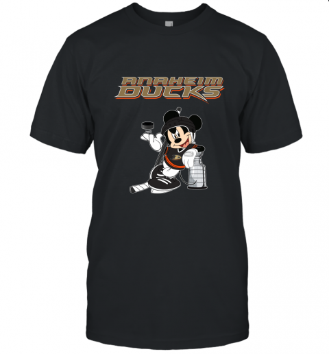fr5j mickey anaheim ducks with the stanley cup hockey nhl jersey t shirt 60 front black
