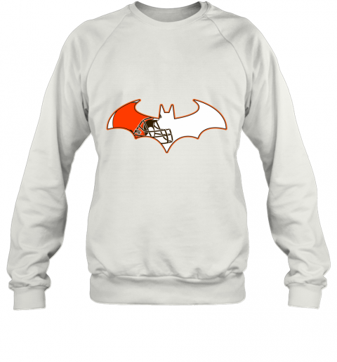 We Are The Cleveland Browns Batman NFL Mashup Sweatshirt
