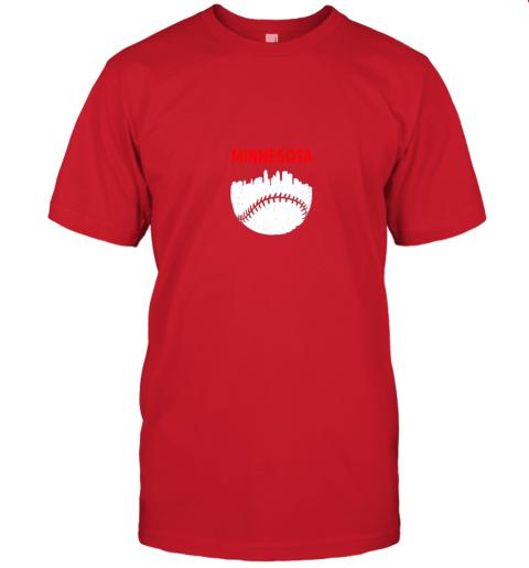 srgr retro minnesota baseball minneapolis cityscape vintage shirt jersey t shirt 60 front red