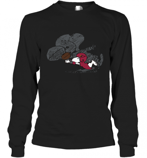 Arizona Cardinals Snoopy Plays The Football Game Long Sleeve T-Shirt