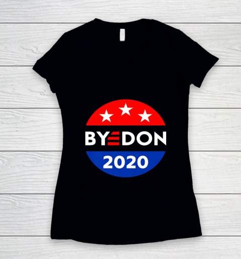 ByeDon 2020 Bye Don Anti Trump Vote Joe Biden Women's V-Neck T-Shirt