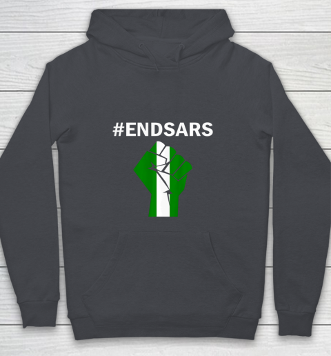 EndSARS End SARS Nigeria Flag Colors Strong Fist Protest Youth Hoodie 5