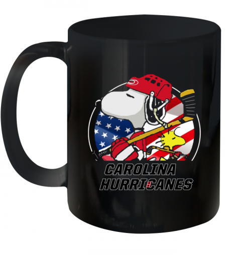 Carolina Hurricanes  Snoopy And Woodstock NHL Ceramic Mug 11oz