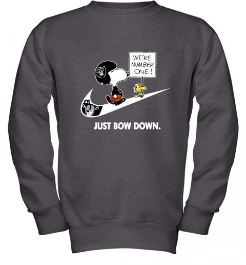Oakland Raiders Are Number One – Just Bow Down Snoopy Youth Sweatshirt