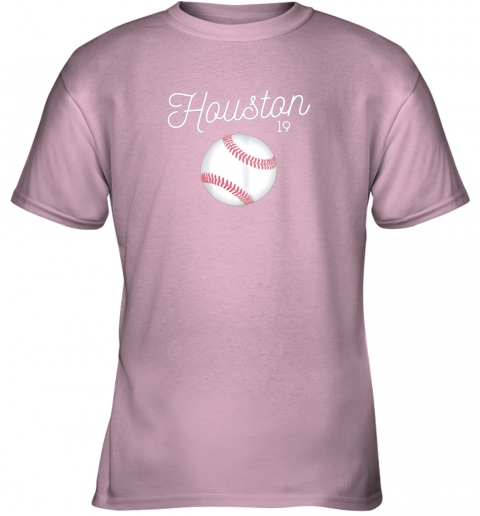 my0t houston baseball shirt astro number 19 and giant ball youth t shirt 26 front light pink