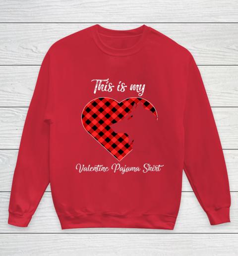 This Is My Valentine Pajama Shirt Wolf Valentines Day Youth Sweatshirt 7