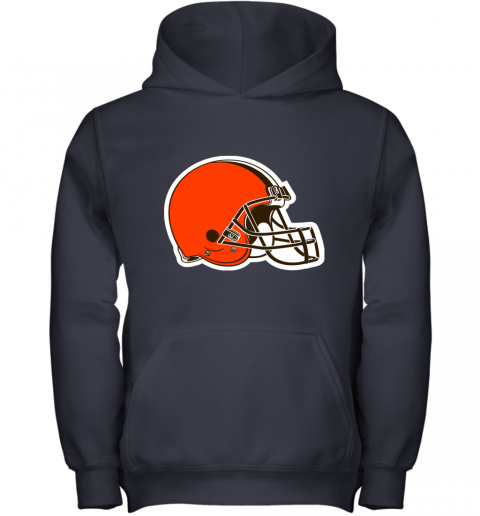3qw3 cleveland browns nfl pro line by fanatics branded brown victory youth hoodie 43 front navy