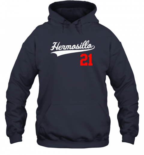 s70u hermosillo shirt in baseball style for mexican fans hoodie 23 front navy